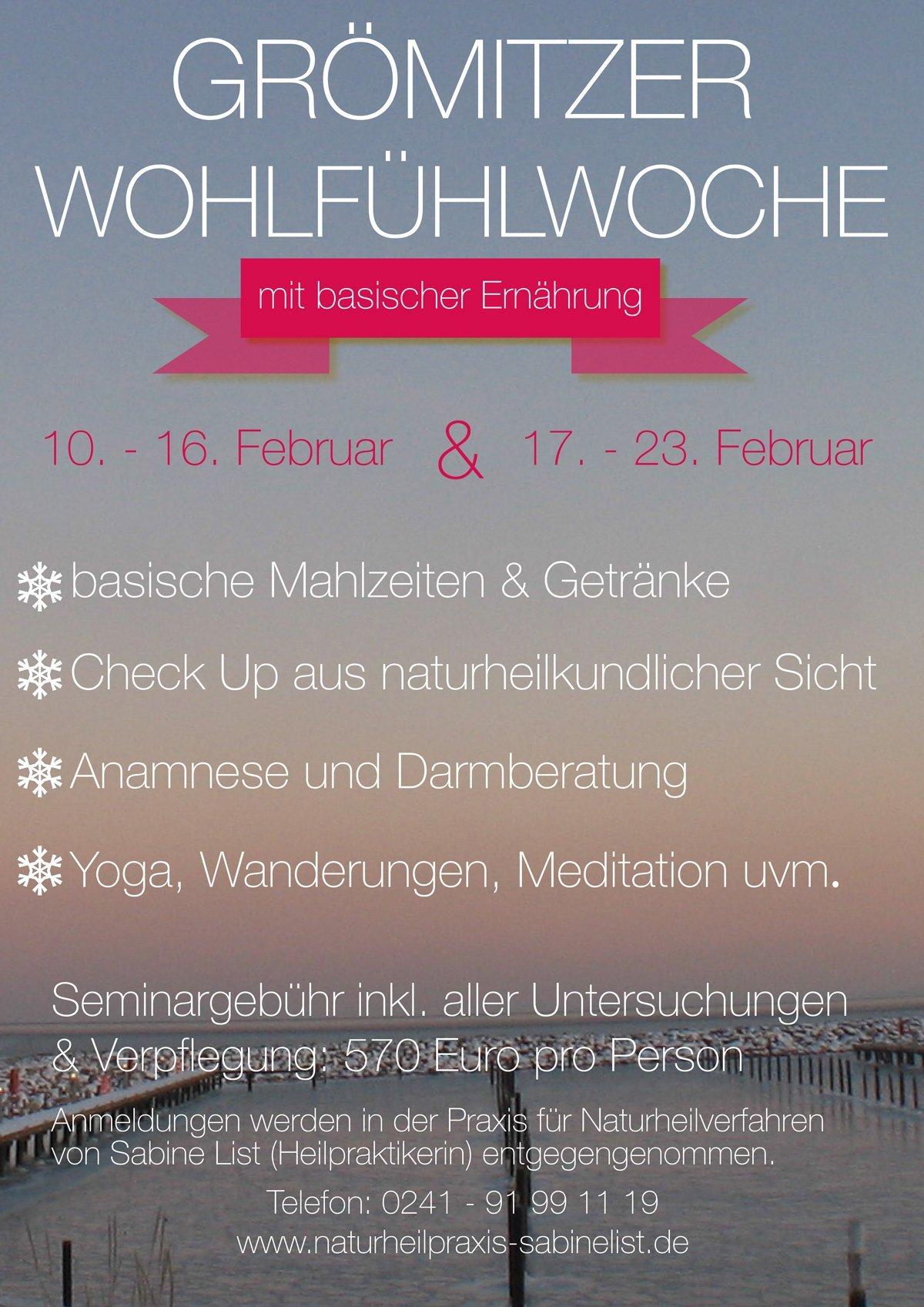 GRÖMITZER WOHLFÜHLWOCHE › Naturheilpraxis Aachen - Sabine List